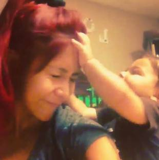 Snooki's Son, Lorenzo, Beats Her Up in Ridiculously Cute Video!
