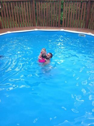 Corey Simms Plays With Daughters Ali and Aleeah in the Pool! (PHOTOS)