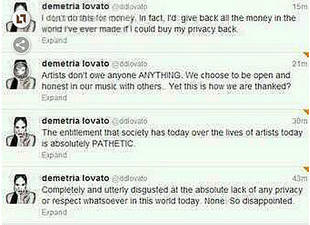 Demi Lovato Rants on Twitter — And Then Deletes the Messages?!