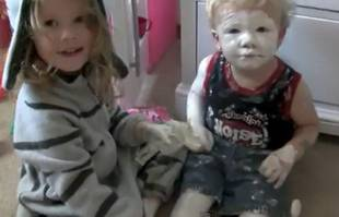 Girl Gets Busted By Mom For Giving Little Brother a Diaper Cream Facial (VIDEO)