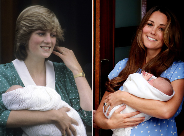 Kate Middleton Wears Polka Dot Dress to Debut Royal Baby, Just Like Princess Diana