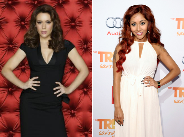 """Alyssa Milano Has """"Total Respect"""" For Snooki and Wants to Kiss Baby Lorenzo!"""