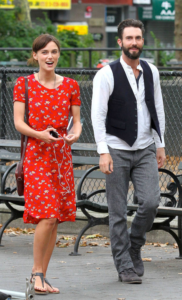 Adam Levine Films More Scenes With Keira Knightley For Can a Song Save Your Life? (PHOTO)