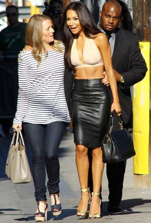 Super-Tan Naya Rivera: Bikini Top and Black Leather on Late Night TV!