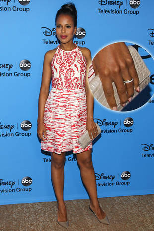 Scandal's Kerry Washington Debuts Wedding Ring at TCAs: First Look! (PHOTO)