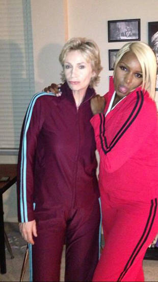 NeNe Leakes Posts a Photo With Jane Lynch From the Glee Season 5 Set (PHOTO)