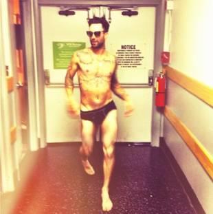 The Voice's Adam Levine Sports Skimpy Black Underwear in Revealing Photo!