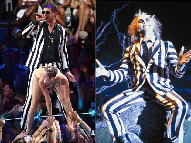Who Wore it Better: Robin Thicke or Beetlejuice?