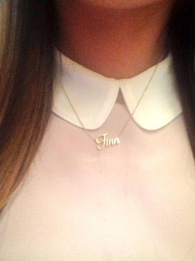 "Glee's Rachel Wears a ""Finn"" Necklace in Cory Monteith Tribute (PHOTO)"