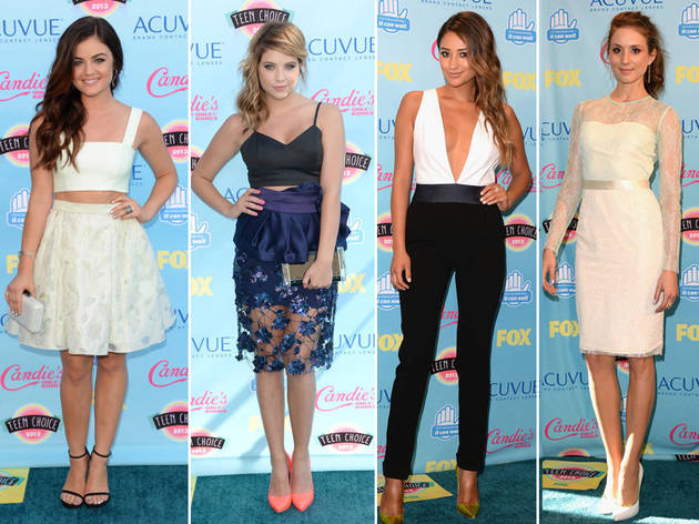 Pretty Little Liars Fashion at 2013 Teen Choice Awards: Who Rocked the Red Carpet Best? (POLL)