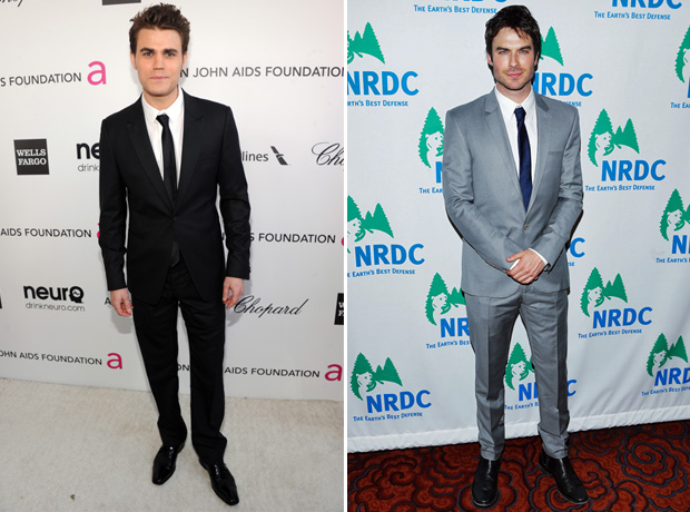 The Vampire Diaries' Paul Wesley vs. Ian Somerhalder: Sexy Suit Face-Off! (PHOTOS)