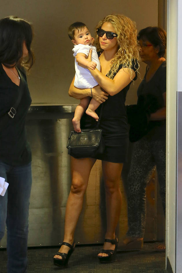 Shakira Travels With Baby Milan — Check Out Their INSANE Amount of Luggage! (PHOTO)