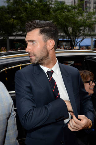 Adam Levine Steps Out Looking Movie Star Chic (PHOTOS)