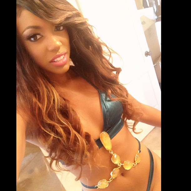 Porsha Stewart Shows Off Bejeweled Bikini and Lighter Hair: Hot or Not? (PHOTO)