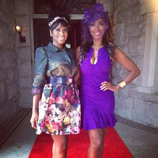 """Kenya Moore Hosts Royal Bridal Shower — See Her """"Gone With the Wind Fabulous"""" Look! (PHOTO)"""