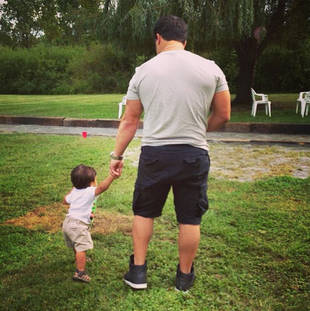 Jionni LaValle and Lorenzo Share Adorable Daddy and Son Moment (PHOTO)