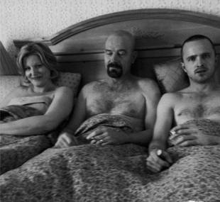 Breaking Bad Spoiler? Aaron Paul Shares Shirtless Pic in Bed With WHO?