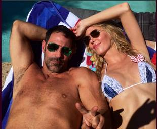 Brandi Glanville Cozies Up to Ex-Husband — While Nearly Naked! (PHOTO)