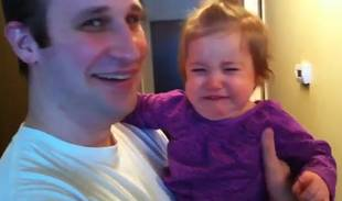 Baby Doesn't Recognize Dad Without His Big, Bushy Beard (VIDEO)