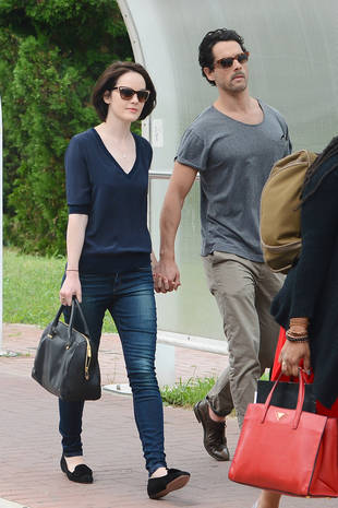 Michelle Dockery and Her Mystery Man in Venice — New Couple Alert!