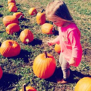 Chelsea Houska Takes Daughter Aubree to the Pumpkin Patch (PHOTO)