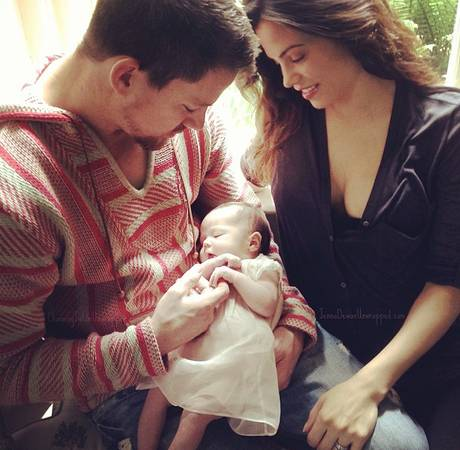 """New Dad Channing Tatum Is the Perfect """"Set Husband"""" For Wife Jenna"""