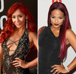 Dancing With the Stars 2013 Snooki vs. Christina Milian: Red Hair Face-Off! (PHOTO)