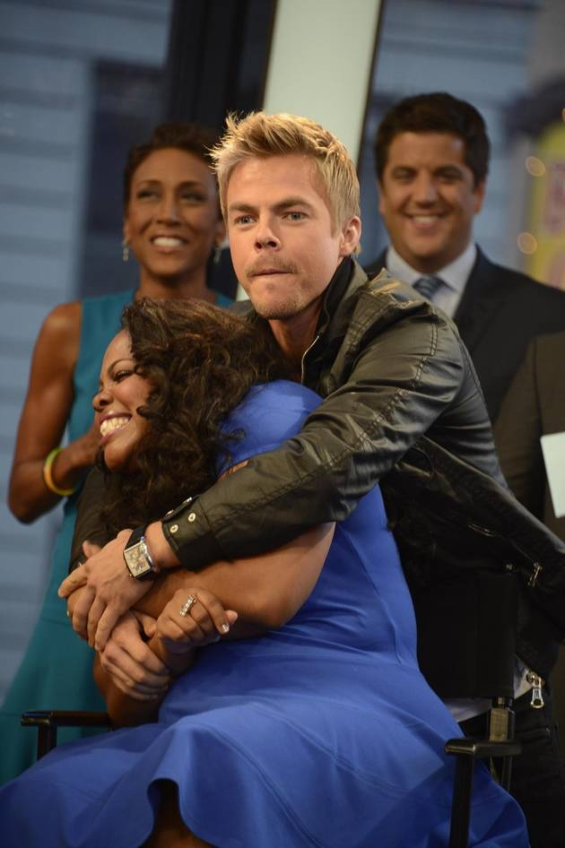Amber Riley's DWTS Partner Derek Hough Reminds Her of Which Glee Co-Star?