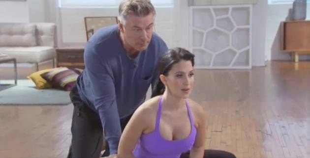 Alec Baldwin's Cameo in Hilaria's Prenatal Yoga Video Is Beyond Awkward (VIDEO)