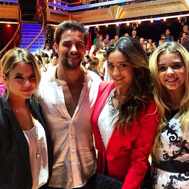 Pretty Little Liars' Ashley Benson and Shay Mitchell Cheer on Brant Daugherty on Dancing With the Stars!