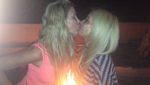 Brandi Glanville and Kim Richards Share Adorable Kiss (PHOTO)
