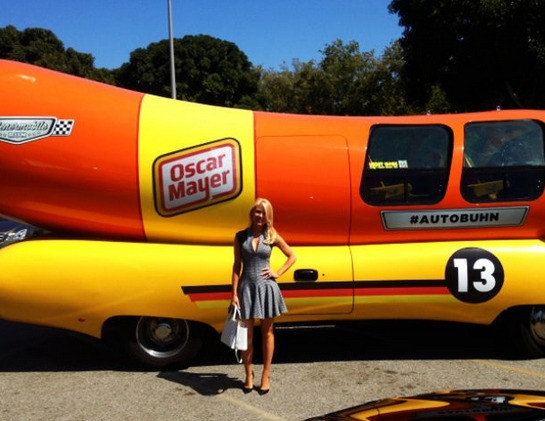 Gretchen Rossi Poses In Front of the Oscar Meyer Wienermobile! (PHOTO)