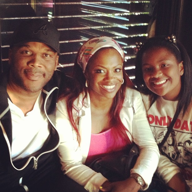 Kandi Burruss and Daughter Riley Meet Tyler Perry — See the Pics! (PHOTOS)