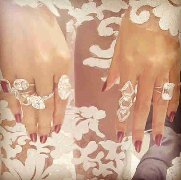 Beyoncé Wore $10 Million Worth of Lorraine Schwartz Diamonds at the 2014 Grammys