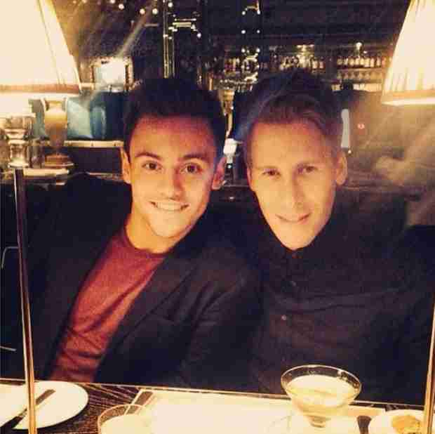 Tom Daley Posts Cute Dinner Date Pic With Boyfriend Dustin Lance Black