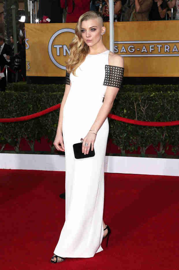 Game of Thrones Star Natalie Dormer Debuts Shaved Head at 2014 SAG Awards