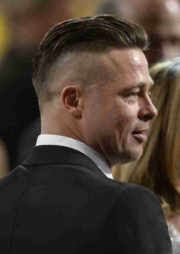 "Brad Pitt Explains New, Half-Shaven Hairstyle: ""It Wasn't a Choice"" (PHOTO)"