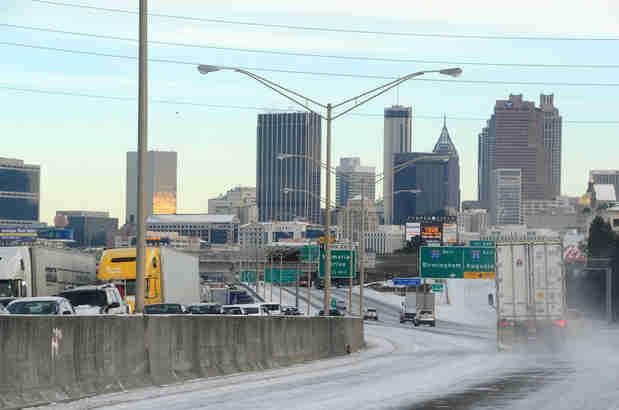 Woman Gives Birth on Atlanta Freeway During Snowstorm