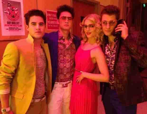 Glee 100th Episode Spoiler Photos: Rachel, Quinn, and Blaine Go '80s