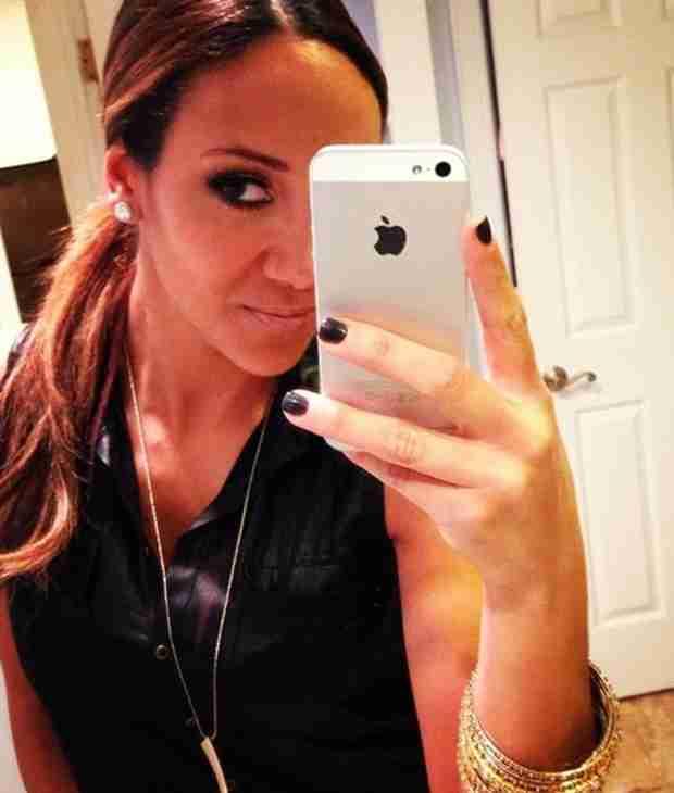 Melissa Gorga in Teal Eyeliner — Hot or Not? (PHOTO)