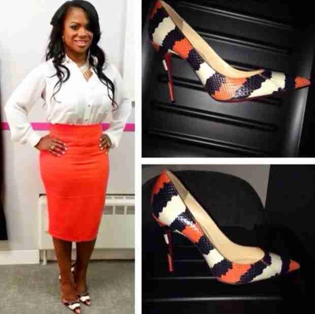 Kandi Burruss Rocks Neon Orange Skirt — Hot or Not? (PHOTO)