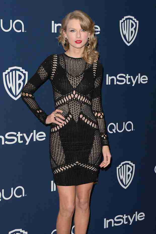 Taylor Swift Wears Sexy See-Through Dress at Golden Globes After Party