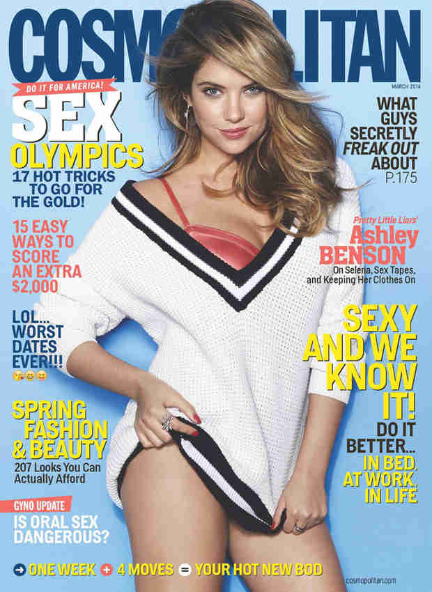 Ashley Benson Covers Cosmopolitan, Opens Up About Her Family History of Addiction