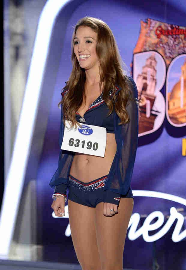 "Watch Cheerleader Stephanie Petronelli Sing ""Paris"" in the American Idol 2014 Premiere (VIDEO)"