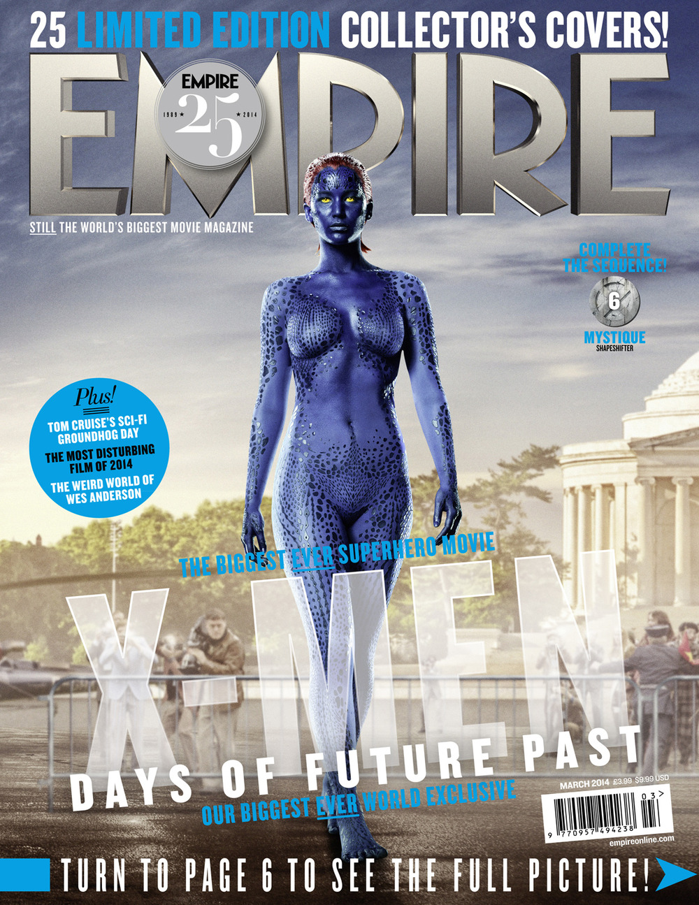 Jennifer Lawrence Nude as X-Men's Mystique on Empire Magazine Cover (PHOTO)
