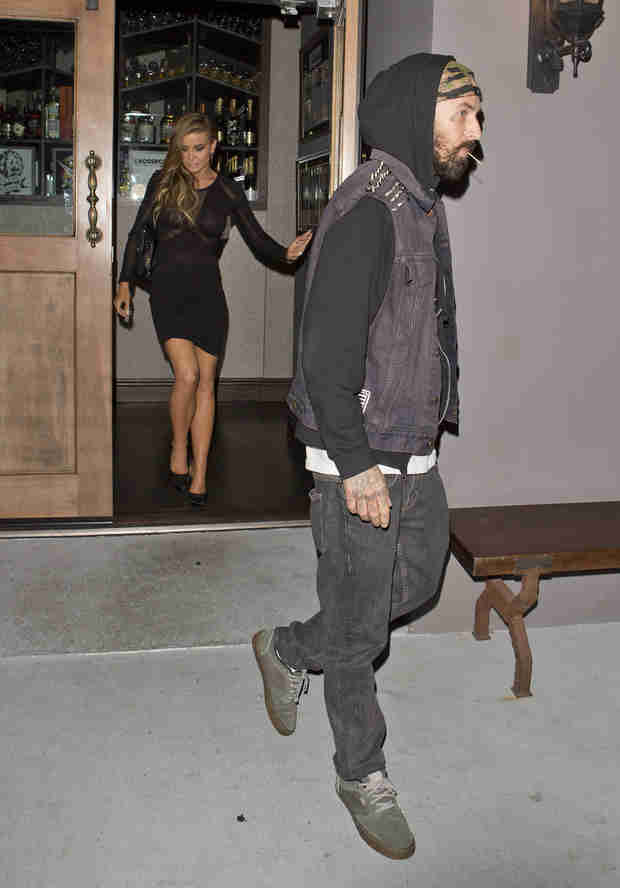 Carmen Electra and Travis Barker Spotted on Dinner Out — Are They Dating?