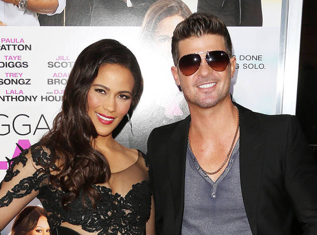 Robin Thicke Caught Cuddling Up to Woman — And It's Not Wife Paula Patton!