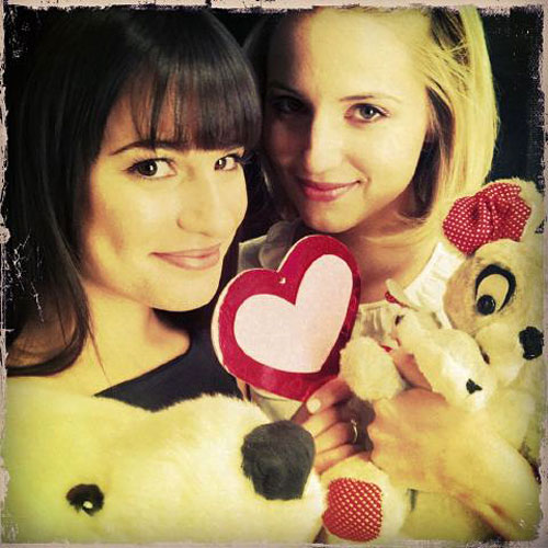 Lea Michele Films Glee 100th Episode Scene — With Dianna Agron!