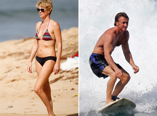 Charlize Theron and Sean Penn Vacation in Hawaii — New Couple Alert? (UPDATE: Confirmed!)