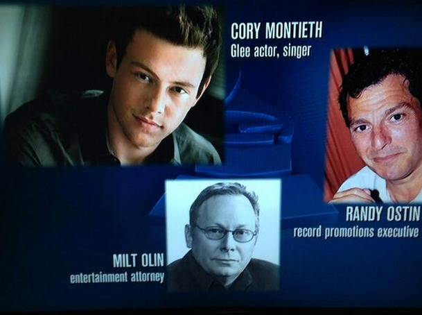 Cory Monteith's Name Misspelled During Grammys Memorial Tribute